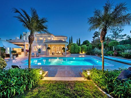 One of the luxury holiday villas available at the Quinta do Lago resort