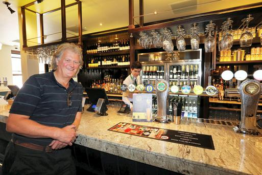 Tim Martin of Wetherspoons at the chain's first pub in Dublin, The Three Tun Tavern in Blackrock