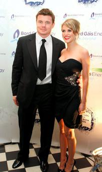 Brian O'Driscoll with wife Amy Huberman