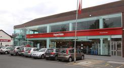 Sales at SuperValu were €2.8bn over the period