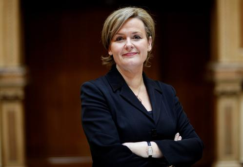 Irish Stock Exchange And Executives...Deirdre Somers, chief executive of the Irish Stock Exchange, poses for a photograph at the headquarters in Dublin, Ireland, on Wednesday, Dec. 15, 2010. The European Union will have to take more decisions next month in its bid to find a