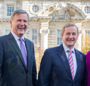Alastair Blair of Accenture and Taoiseach Enda Kenny at yesterday's announcement