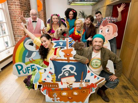 Cast and presenters of RTÉjr at the autumn schedule launch, RTE's dedicated cross-platform children's channel