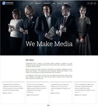 INM.ie business-to-business site was designed and developed in-house.