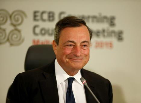 European Central Bank (ECB) president Mario Draghi. Photo: Reuters