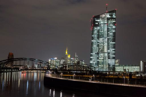 European Central Bank (ECB) headquarters in Frankfurt. Photo: Bloomberg