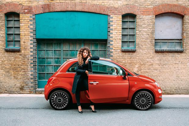 British singer/songwriter Ella Eyre, who remastered the hit song 'Best of my Love' for last September's debut of the latest Fiat 500 car