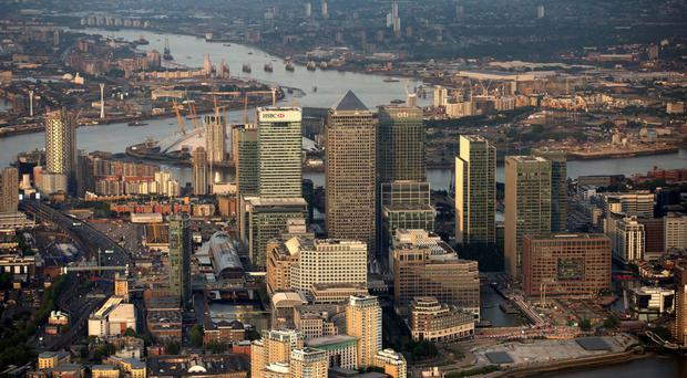 London's Canary Wharf business, financial and shopping district