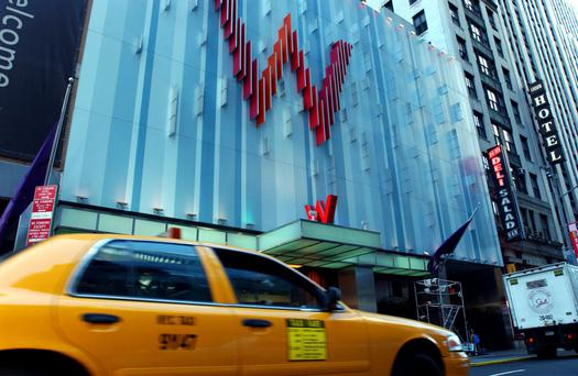 The Starwood-owned W Hotel in New York's Times Square