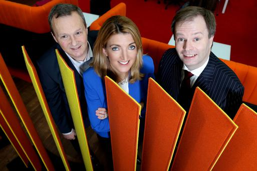 Paul Griffin, ViClarity; Sinead Ovenden and Ken Owens, PwC