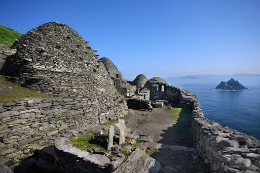 The Wild Atlantic Way and Skellig Michael, above, which is in the new 'Star Wars' movie, feature heavily in a new guide from Discover Ireland. The Western seaboard is 'an enormous draw', said Irish Hotels Federation president Stephen McNally. Photo: Valerie O'Sullivan