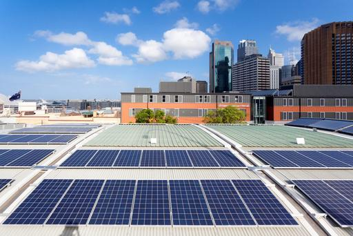 The apartments feature green technologies such as rainwater harvesting, rooftop solar panels and energy storage, and typically generate at least as much energy as they use. (stock image)
