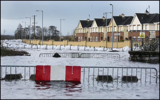 Flooding in Athlone, one of the areas badly hit in the winter storms. Photo: Steve Humphreys