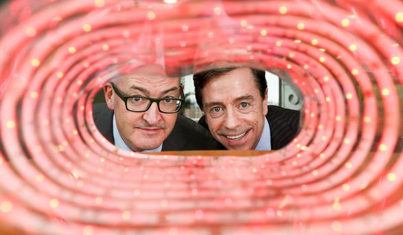 Asavie chief executive Ralph Shaw, left, and Bill Archer, managing director, eir Business. Photo: Maxwellphotography.ie