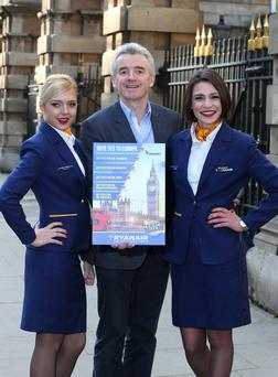 Ryanair boss Michael O'Leary campaigns for UK to stay in EU