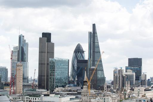 The City of London financial district. Photo: Bloomberg