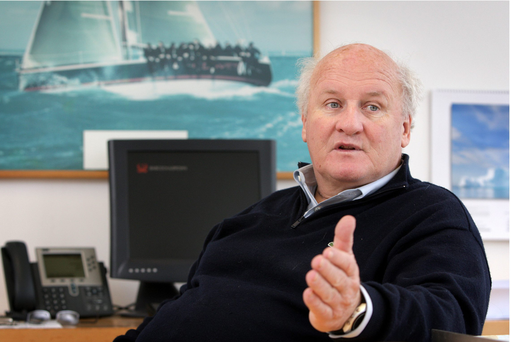 Aer Lingus Chairman Colm Barrington photographed at his Babcock and Brown Offices in Dunlaoghaire.Pic Frank Mc Grath