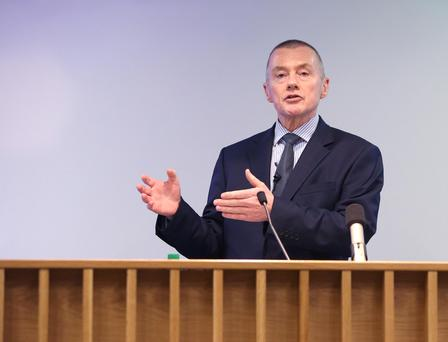 Willie Walsh at UCD. Photo: Damien Eagers