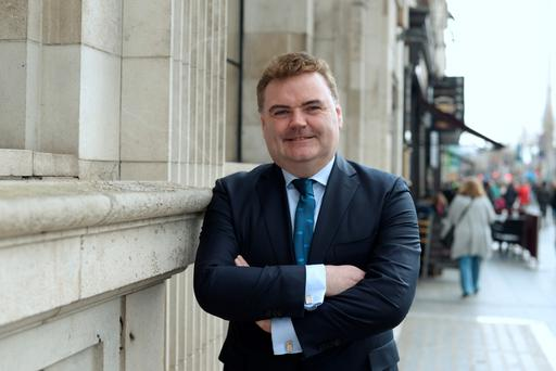 Amarenco chief executive John Mullins pictured outside Dublin's Gresham Hotel. Photo: Caroline Quinn