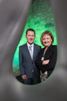 Majella Kelleher, SEAI, with Paddy Sweeney of  Enprova.