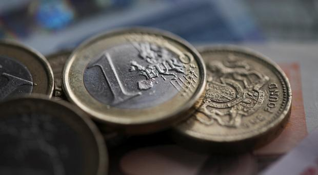 Sterling is trading at 77 pence to the €1. Photo: Bloomberg