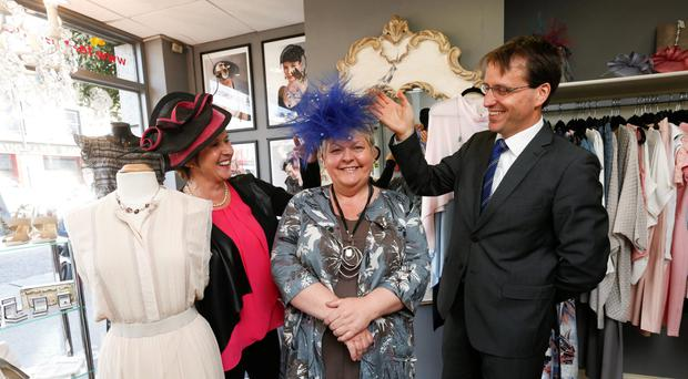 ISAX chief executive Anne Connolly; Jean Condron, owner of Hats by Jean, Terenure, Dublin; and David Merriman, the head of enterprise development at Bank of Ireland, launch the programme yesterday. Photo: Conor McCabe