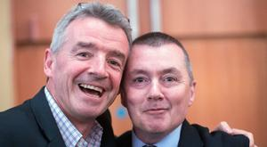 Ryanair boss Michael O'Leary and IAG chief Willie Walsh