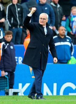 Leicester City, and manager Claudio Ranieri. Photo: PA