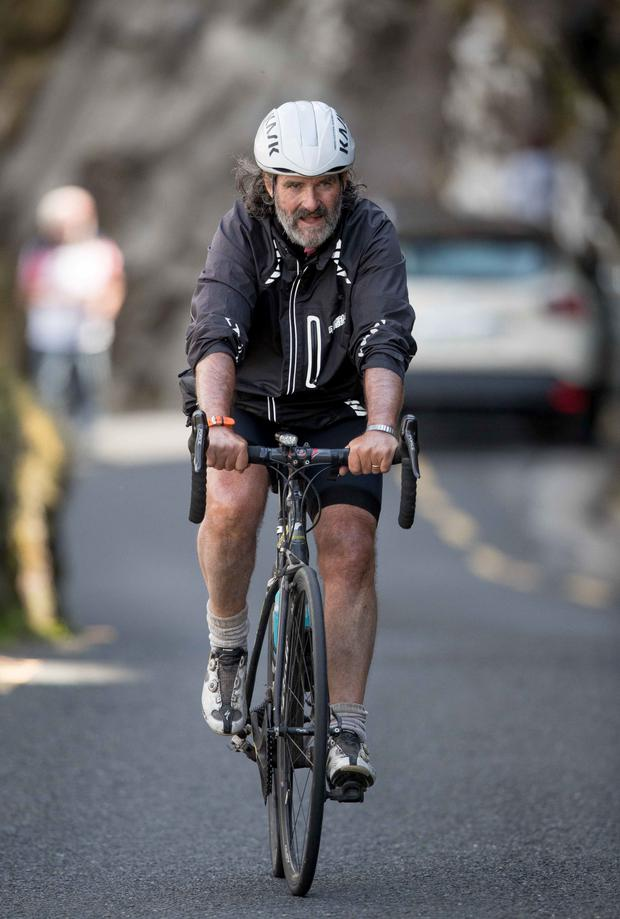 Johnny Ronan was among the host of riders who joined in the An Post Rás yesterday as it travelled a gruelling stage that included a traverse of the Connor Pass.
