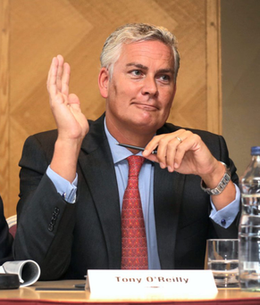 Tony O'Reilly Jnr is facing down a small group of shareholders seeking his removal from the firm. Photo: Finbarr O'Rourke