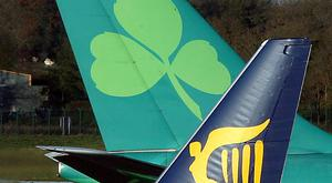 Rivals Aer Lingus and Ryanair have each been suing the Revenue Commissioners and the Department of Finance. Photo: Bloomberg