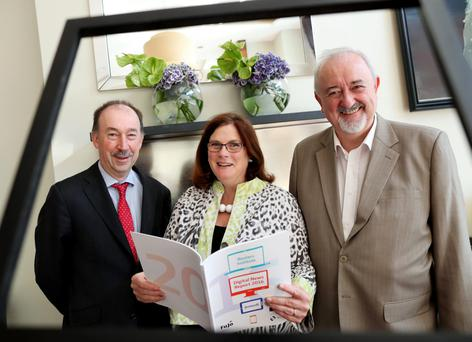 Michael O'Keeffe, chief executive, Broadcasting Authority of Ireland, Jane Suiter, director of the Institute for Future Media and Journalism (FuJo) at DCU, and Dr Pauric Travers, chairman, BAI