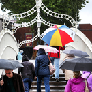 The Ha'penny Bridge will still be there in the year 2050. But unluckily, so will the rain Picture: Steve Humphreys