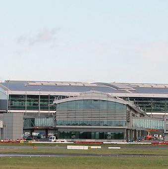 Multiple flights were delayed yesterday after a transatlantic jet was forced to make an emergency landing at Dublin Photo: PA