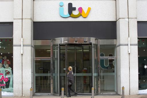 The entrance to the ITV Plc headquarters and television studios in London