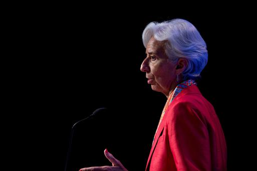 Christine Lagarde, managing director of the International Monetary Fund, says UK faces losing 1.5pc to 4.5pc of GDP by 2019. Photo: Bloomberg