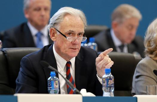 Bank of Ireland Chairman Archie Kane pictured during the Bank Of Ireland AGM in the O Reilly Hall, UCD