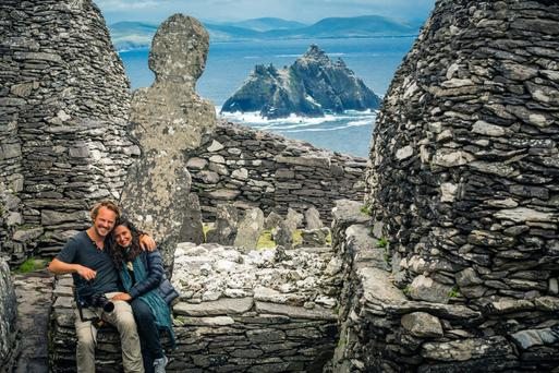 Tourists on the Skellig Islands, off the coast of Co Kerry. Photo: @storytravelers