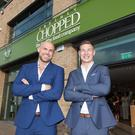 Brian Lee, co-founder and managing director of Chopped and Cathal Pendred at the new Chopped in Blanchardstown