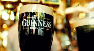 The standard pint of Guinness is the best-selling alcoholic drink in the Dail bar. Stock Image