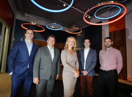 Pictured at the launch were Adrian Mullett, head of technology sector, Bank of Ireland; John MacNamara, manager, software department, Enterprise Ireland; Catherine Guy, managing partner, ByrneWallace; Paul Sweetman, director, ISA; and Cronan McNamara, ceo, Creme Global, chair of the ISA. Photo: Gary O'Neill