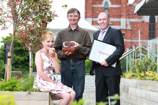 Katarzyna Gwis, of K & T Bakery in Kerry; Walter Ryan-Purcell, of Loughbeg Farm in West Cork; and Gerry O'Connor, of Intergreat in East Cork, winners of the Inaugural ILDN Enterprise Awards for the South Region, and now shortlisted for the national awards. Photo: Diane Cusack