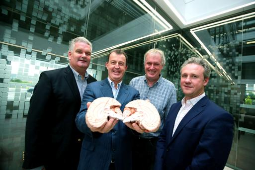 Dr Manus Rogan, Fountain Healthcare, and Dr Matt Cooper, Prof Luke O'Neill and Dr Jeremy Skillington of Inflazome