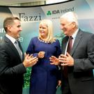 Martin Shanahan, ceo of IDA Ireland; Minister for Jobs Mary Mitchell O'Connor; and Dr Robert Fazzi, the founder and managing partner of Fazzi