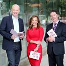 Tony Hanway, ceo of Virgin Media; Sinead Desmod from TV3; and Gerard O'Neill, chairman of Amárach Research, at the launch of the Digital Insights Report which has forecast a near doubling in online consumer spending in Ireland. Photo: Marc O'Sullivan