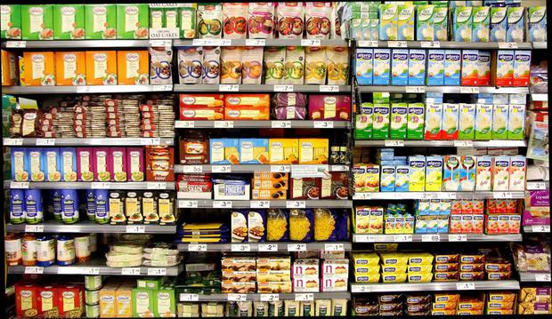 The shelves of the supermarket chain which has just managed to draw level in the Irish market with the global grocery giant Tesco