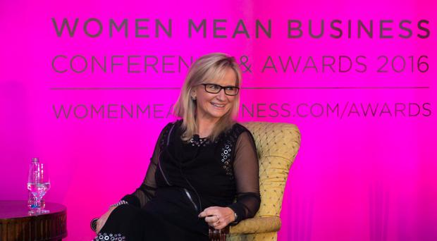 Dee Forbes, director general of RTE, at the Women Mean Business Conference and Awards 2016 in the Shelbourne Hotel, Dublin. Photo: Jenny Barker Photography