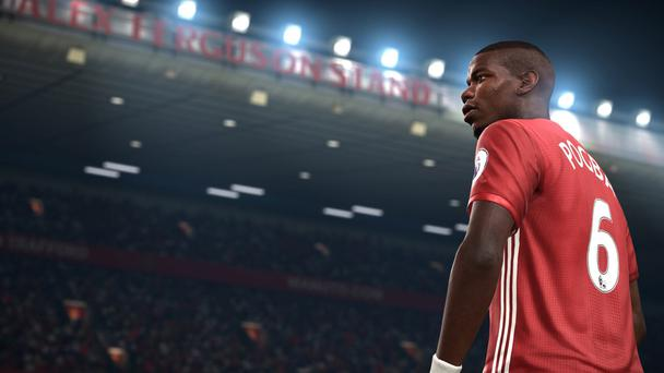 Manchester United superstar Paul Pogba features at Old Trafford in the hit FIFA 17 game for consoles