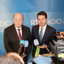 Ministers Michael Noonan and Paschal Donohoe meet the press Pic: RollingNews.ie
