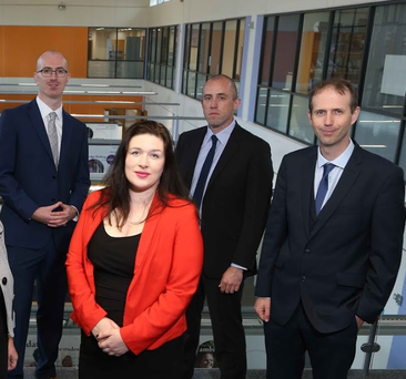 Greg Payne, Ciara Shields, Paul Flynn and NUI Galway's Dr John Breslin will all take part in the TechInnovate initiative and will seek to develop new ideas to bring to market over 10 months